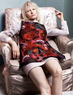 September 2013: Kirsten Owen wears Maison Martin Margiela, shirt by Simone Rocha
