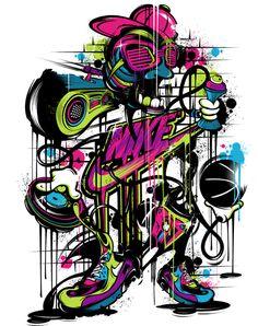 #Nike by Yup Visual #Art Studio, via Behance