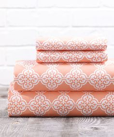 Coral Clementine Sheet Set