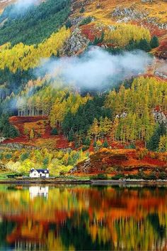 Autumn colours in Highlands, Scotland
