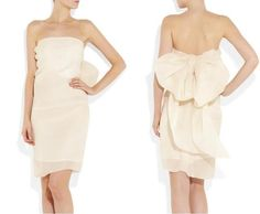 Get in my closet right now!!!!! I need a birthday dress!!!! Lanvin Bow Back