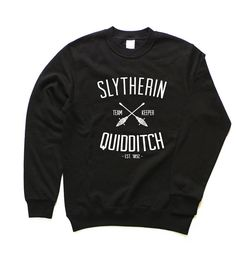 Slytherin Sweatshirt, Slytherin Sweater, Harry Potter Sweatshirt, Slytherin Quidditch Sweatshirt, Harry Potter Sweater