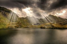 """/ Photo """"Balea Lake( the mother nature's show)"""" by Tony Goran Wild Nature, Video Photography, Countries Of The World, Romania, Mother Nature, Bali, Places To Go, Scenery, Clouds"""