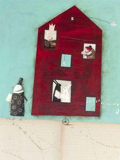 A house of readers / Una casa de lectores (ilustración de Rofusz Kinga)