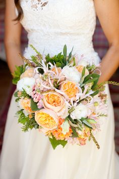 For spring #weddings, use pastel-colored roses like our #Juliet. The soft peach pairs well with other light hues to create a warm, romantic feel.