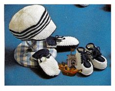 Vintage Crochet Pattern PDF Baby Bebé Nautical Sailor by carolrosa