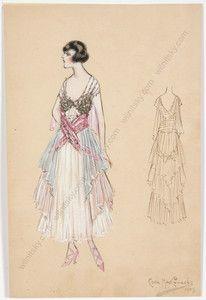 1909 theatrical costume design
