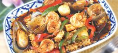 Combination Seafood with Chili Paste at Palms Thai restaurant - 5900 Hollywood Boulevard #HollywoodBoulevard #HollywoodBLvd #Hollywood #restaurant #Seafood #Shrimp #Mussels #Chili #PalmsThai #DHmagazine