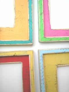 Custom painted wood frames
