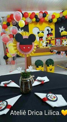 Reutilizando vidros de papinha para centro de mesa. Mickey Mouse scrapfesta. https://www.facebook.com/dricalilicabyadrianaandrade/