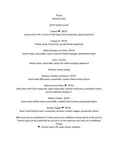 stokedwoodfiredpizza | Truck Menu Wood Fired Pizza, Fresh Mozzarella, Fresh Basil, Base Foods, Caramelized Onions, Tomato Sauce, Pepperoni, Food Truck, Menu