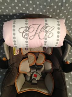 Infant carrier car seat arm cushion by SewBabyBaby on Etsy,