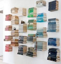 Invisible Bookshelves, With Some Colour Grouping.