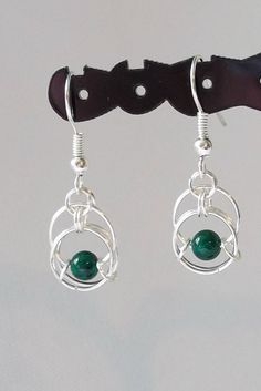Almost Centipede Chainmaille Earrings  Silver/ I think I already did something like this .... but maybe these are different ...