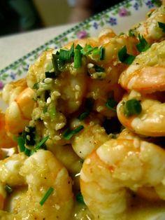 Garlic Ginger Shrimp for Cucina Fresca