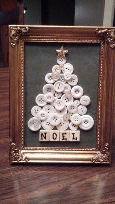 Would be cute with brown wooden buttons and scrabble tiles to say N O E L. :) by anne