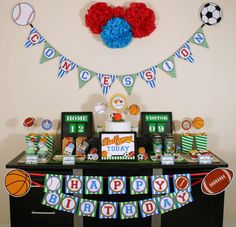 All Sports Birthday Party Birthday Party Ideas | Photo 1 of 15 | Catch My Party