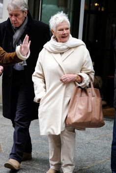 Judi Dench with David Mills in NYC