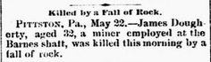 Genealogical Gems: On This Day: Pittston miner killed
