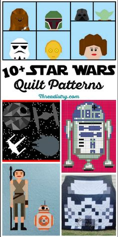 Whether you are a Rebel or on the Dark Side, share your inner Jedi with Star Wars quilt patterns for everyone, including modern and paper-pieced options.