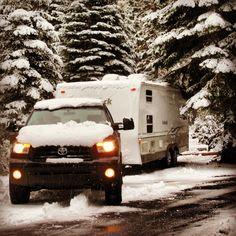 RV Camping- Winter Travel Trailer Camping