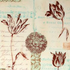 Michael Miller antique fabric flowers music  beautiful fabric with antiquated flowers & music pattern from the USA