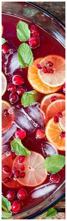 Christmas Day Punch ~ A lovely fruity punch for the grown-ups.