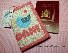 Vanecroche e patch: Porta passaporte com passo a passo