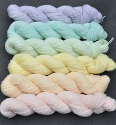 Pastel Color Wheel Yarn Set by colorshiftyarn on Etsy, $59.10