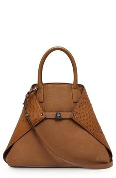 Akris 'AI Medium Messenger' Genuine Ostrich & Calfskin Leather Tote $4490.00 What yall know about THIS ish?!