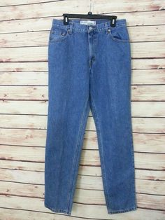 Levi's Jeans 550 Relaxed fit tapered leg womens size 12 Long Medium wash #Levis #RelaxedSlimSkinny