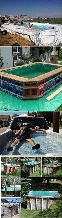 Quem disse que não se pode ter piscina em casa? Olha essas  as ideias