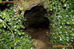 Tir Na Nog Cave Entrance, Knockadoon, Limerick, Ireland. In Irish legend The land of Tir Na nOg is the land of the young, the Otherworld or even Underworld as the Tuatha De Danann were believed to have disappeared into the fairy mounds of Ireland after they were defeated by the Milesians.