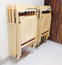 """Kusch+Co """"Pin-up"""" klapstoel op muurbeugel (2 of 4 stoelen)"""