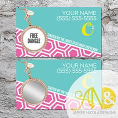 20 Custom Origami Owl Inspired Scratch Off by AmberNicolaDesigns