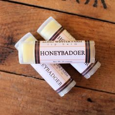 Honey badgers certainly don't care, but your lips do! Keep 'em moisturized with this honey- and cinnamon-flavored balm during your next snake snack or late night Dumpster-side hyena brawl.