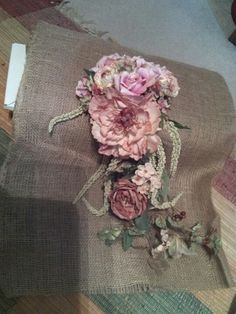 My shabby country chic wedding bouquet