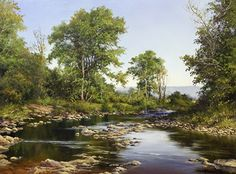 A Shallow River in Summer by Andrew Orr Oil ~ 12 x 16