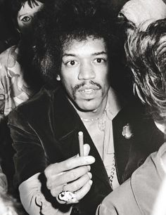 Jimi Hendrix in the crowd at the Martin Luther King Jr. Benefit Concert at Madison Square Garden. Photo Ron Galella, 1968.