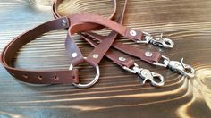 Men's Leather Suspenders by SuiPigLeather on Etsy