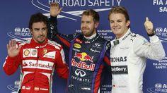 R19Q: Red Bull's Sebastian Vettel beat Mercedes' Nico Rosberg and Ferrari's Fernando Alonso to pole position at the Brazilian GP.