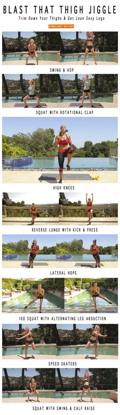 Trim your thighs & lean out your legs with our fat blasting #workout!  Yowch. But this would do it!