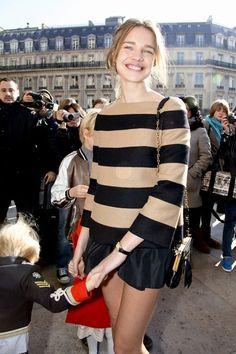 Natalia Vodianova fresh stripes