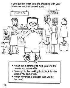Stranger Safety Coloring Sheet For Free Book Kids To Talk About National Missing Childrens Day May