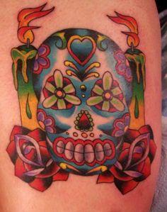 Sugar Skull Designs | girly sugar skull tattoos tattoo