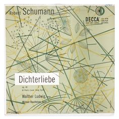 Erik Nitsche, artwork for album cover Dichterliebe by Robert Schumann, 1952. Decca. Via flickr