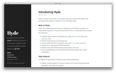GitHub - poole/hyde: A brazen two-column theme for Jekyll. Simple Site, Hyde, Learning, Studying, Teaching, Onderwijs
