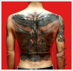 The Cross Tribal Back Tattoo Designs And Meaning For Men On Back ~ http://tattooeve.com/back-tattoo-designs/ Tattoo Design