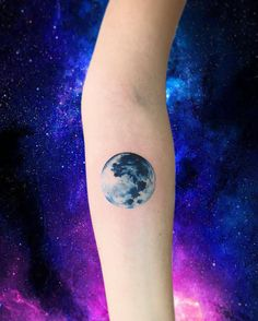 """6,170 Likes, 34 Comments - Adrian Bascur (@adrianbascur) on Instagram: """"Lun AB #tattoo #tatuaje #galaxy #galaxia #space #star #ab #planet #luna #moon"""""""