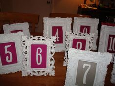 Table Card Frames